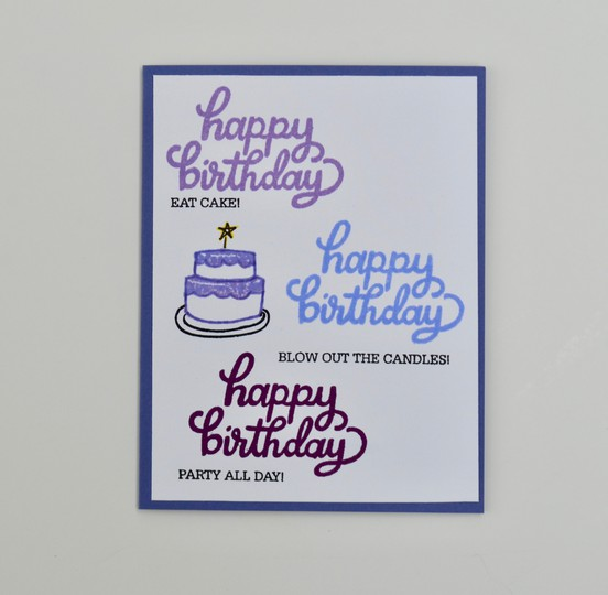 Cake birthday purple original