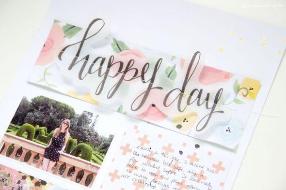 Happyday scrapbooking layout scatteredconfetti fancypants diy papercrafts 2