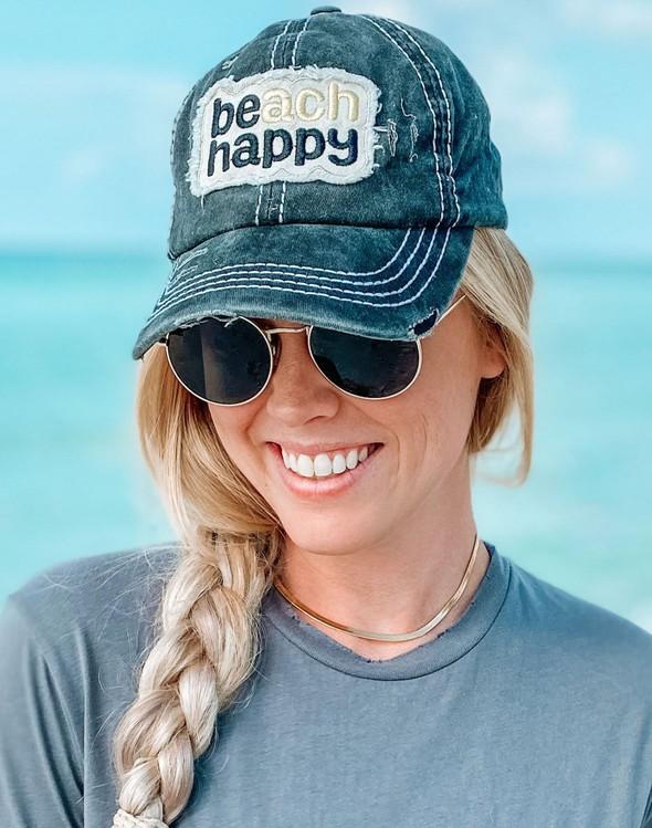 110992 beach happy hat black women slider 2 original