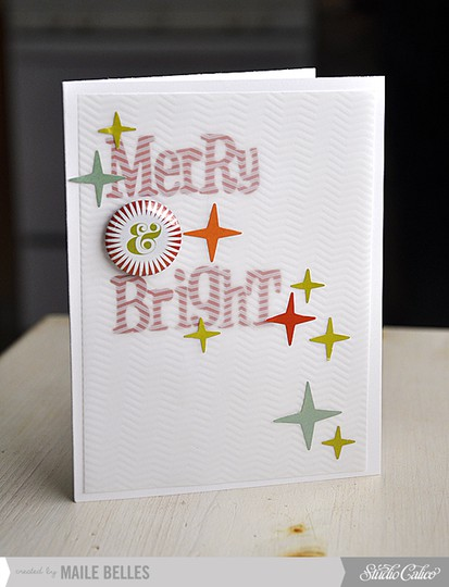 Merry   bright card