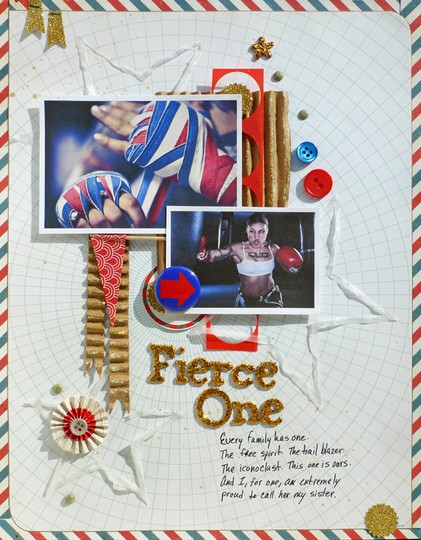Flair buttons olympics sports boxing scrapbook
