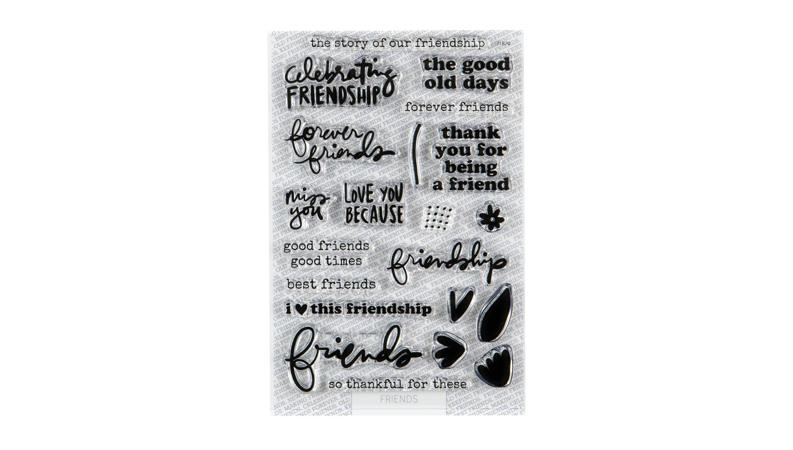 Brand New Craft Supplies Days and Months Clear Stamp Set