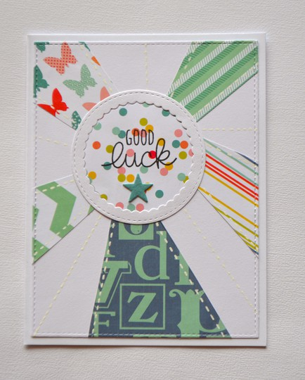 Good luck sunburst card original