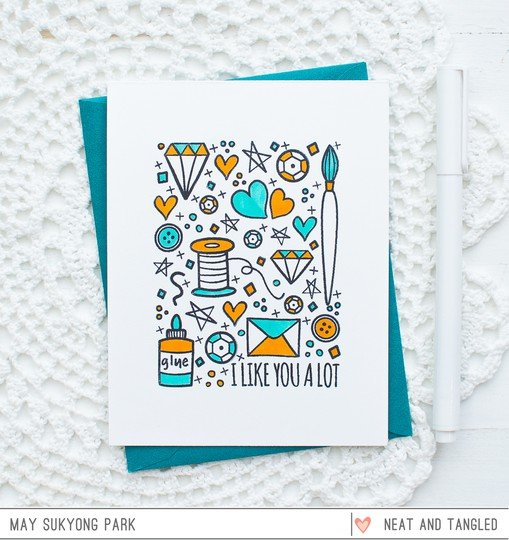 Neat and tangled clean and simple card may 1 original