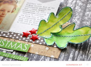 Merry christmas leaves