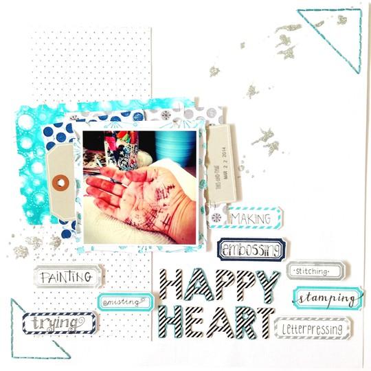 Happy heart letterpress 1 vickilfunk