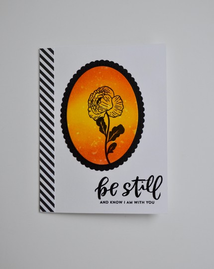 Be still sympathy card original