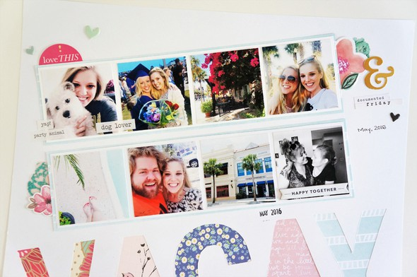Florida vacation scrapbook layout  multiple photos on a 12x12 page %25282%2529 original