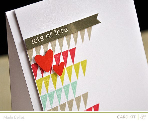 Lots of love card detail