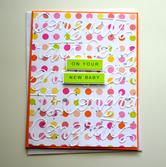 New baby polka dot card original