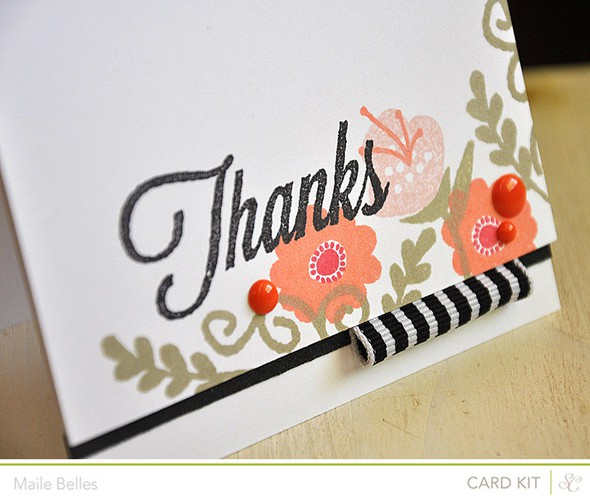 Thanks card detail