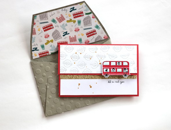 Bus envelope by natalie elphinstone original