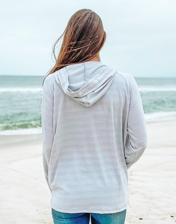 121777 simple beach happy french terry hoodie oatmeal women slider 4 original