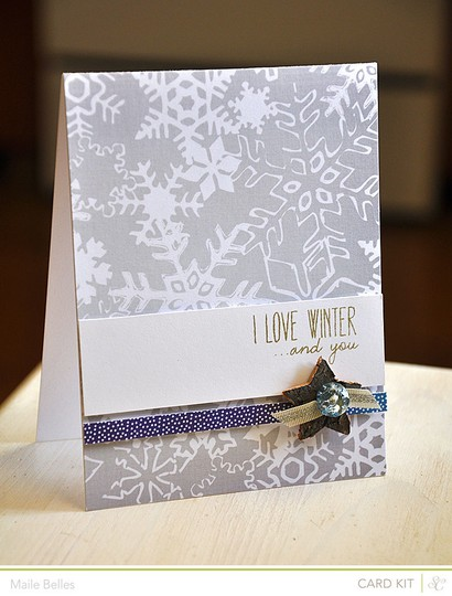 I love winter and you card