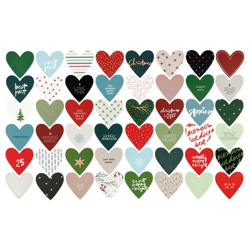 Picture of December Daily® 2021 Plastic Heart Set