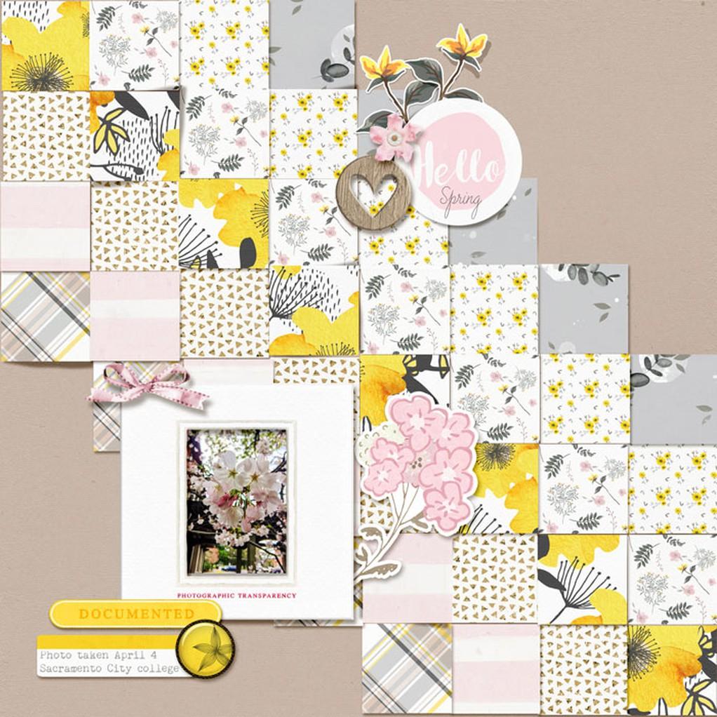 Hello spring simple square  original