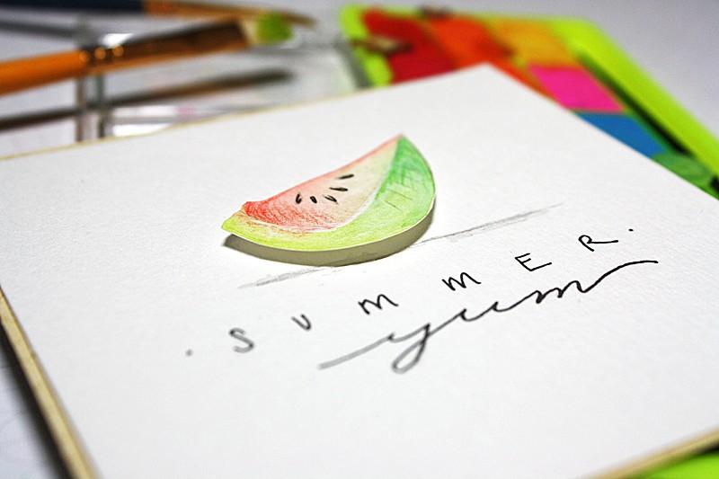 Summer yum plcard