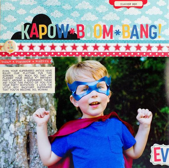 1   kapow boom bang