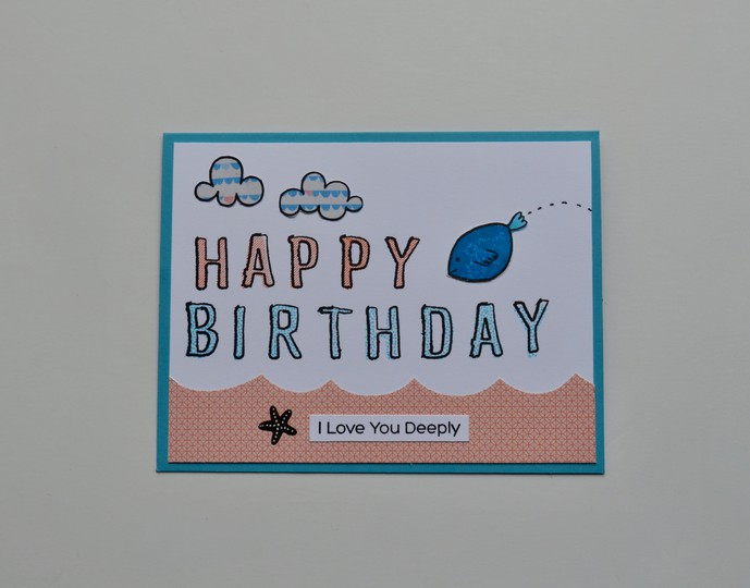 Birthday fish jumping card original