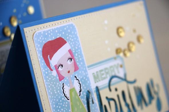 Merry card close up