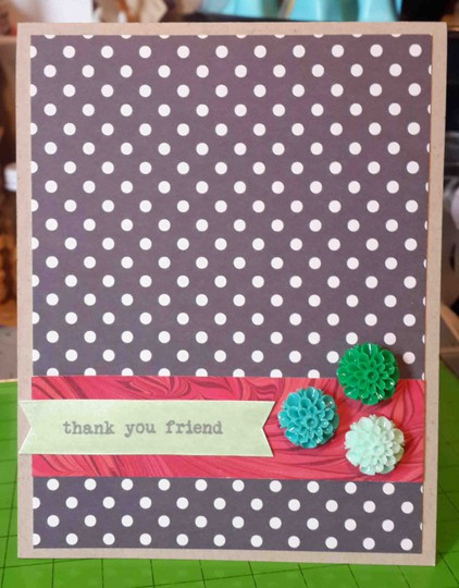 Thank you friend card