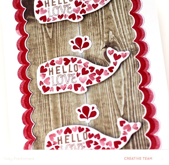 Hello love card close up
