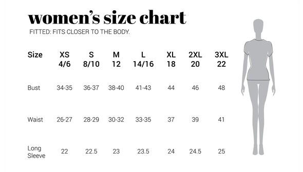 30a sizechart women fitted original