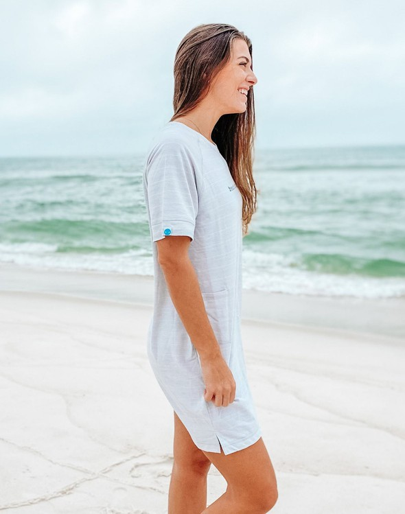 121977 simple beach happy french terry dress oatmeal women slider 4 original