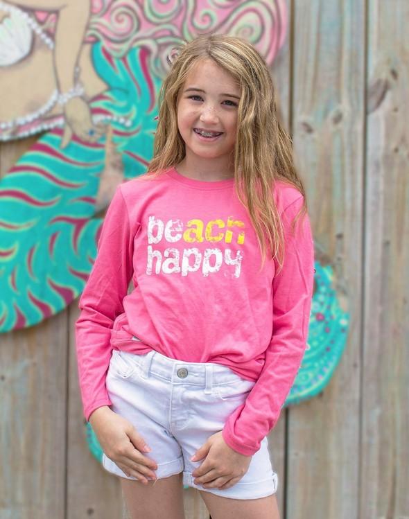 113857 beach happy long sleeve tee melon kids slider 1 original