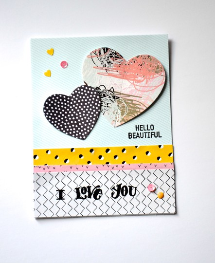 Hello beautiful i love you card original
