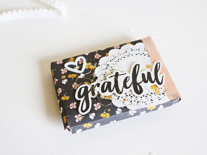 Grateful scatteredconfetti scrapbooking minialbum felicityjane autumn 1 original