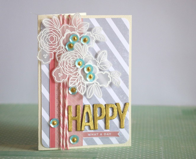 Happy card gold