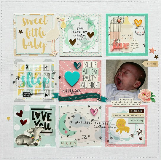 Mliedtke scraptastic march sweet child of mine sweet little baby z strip original