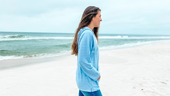 121783 simple beach happy french terry hoodie women dusty blue slider4 original