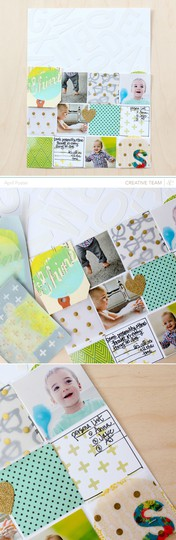 Shine studio calico scrapbook paint silk screen