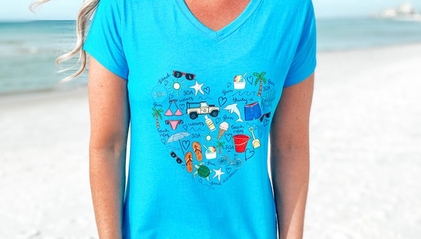 128994 beach love by callie danielle v neck tee women 30a blue slider3 original