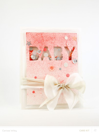 Baby confetti shaker card final banner