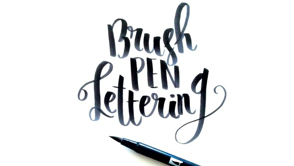Brush pen lettering full size original