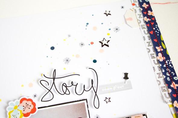 Story scatteredconfetti scrapbooking layout citrustwistkits december fancypants 4 original