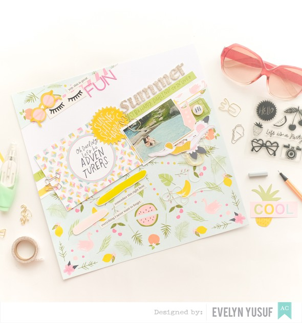 Summer fun full layout stylish cover american craft happy place dear lizzy by evelynpy original