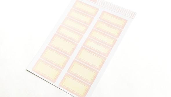 105779 4x6colortheorylabelstickerpinklemonadescallop10pack slider2 original