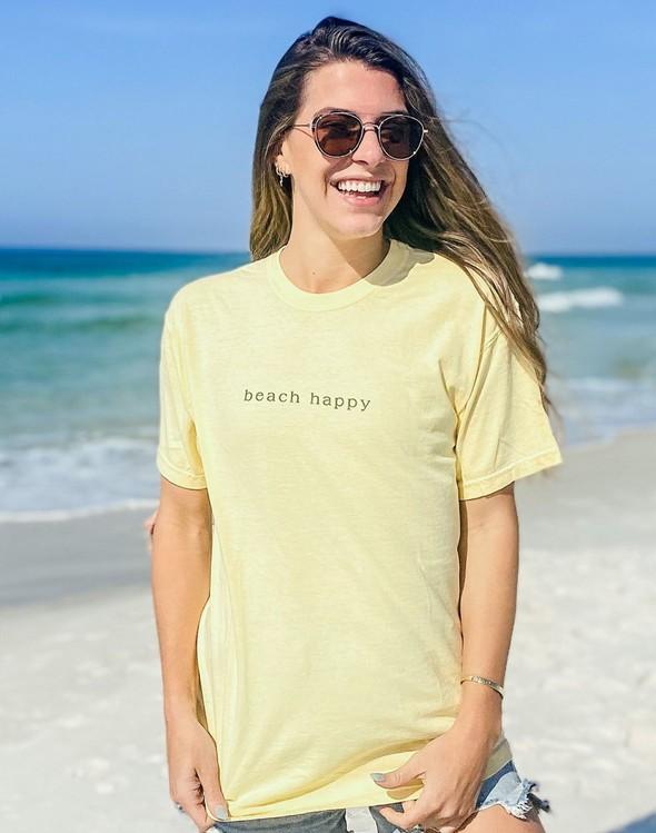 154045 simple beach happy comfort colors short sleeve tee butter women slider 1 original