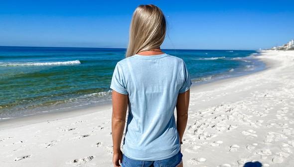 137678 keep our beach happy v neck tee women sky slider5 original