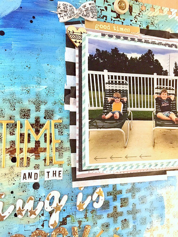 Summertime and the living is easy layout   cu  background and photo original