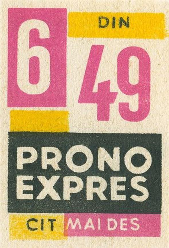 Romanian matchbox label