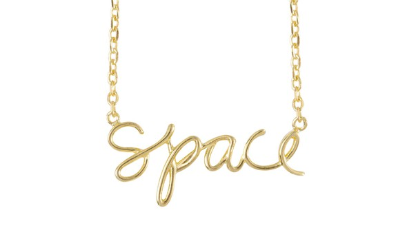 Ae olw shop necklaces space gold slider original