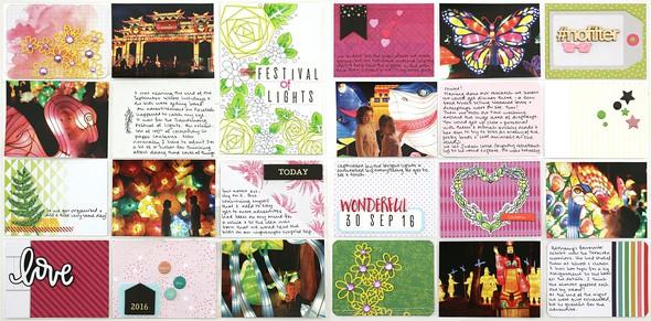 Festival double spread by natalie elphinstone original