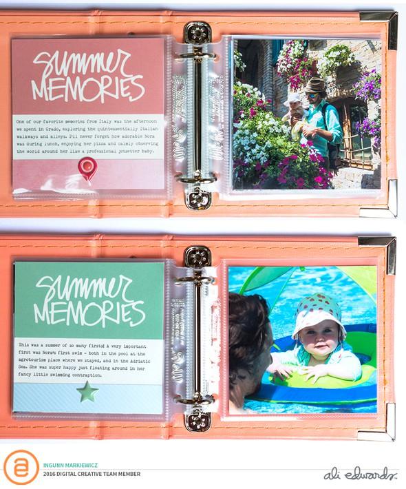 Imarkiewicz summermemoriesjournalingcards minialbum original