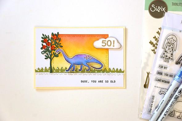 Dino card by natalie elphinstone original
