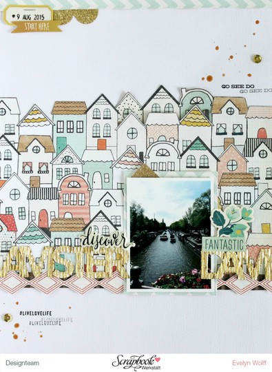 Discover amsterdam scrapbooking layout 1 original